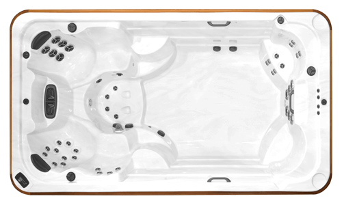 Top view of the Arctic Spas All Weather Pool Ocean Legend